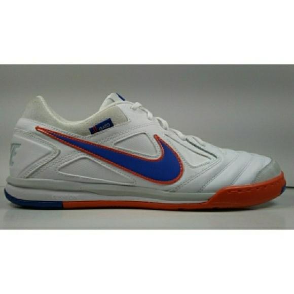 Nike Mens Rare Nike5 Gato LTR Indoor Soccer Shoes Boots 415123-148 White Orange
